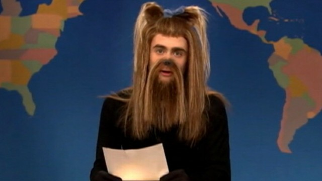 "VIDEO: ""Saturday Night Live"" skit stars Daniel Radcliffe dressed up as the adopted pup."