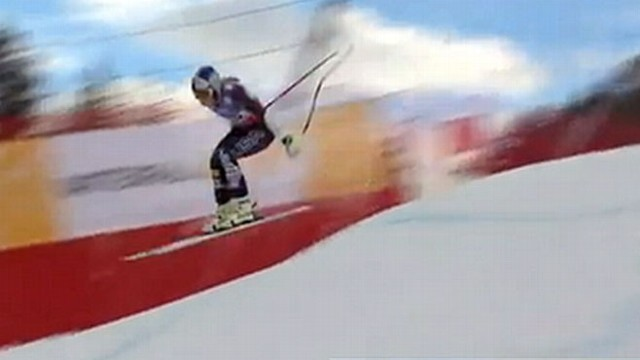 VIDEO: Lindsey Vonn crashed during a race in Schladming, Austria.