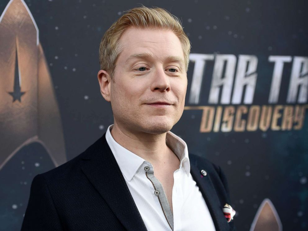 PHOTO: Anthony Rapp, cast member in Star Trek: Discovery, poses at the premiere of the new television series in Los Angeles, Sept. 19, 2017.