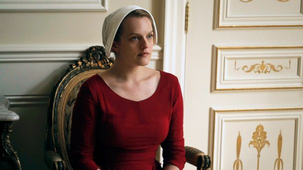 PHOTO: This image released by Hulu shows Elisabeth Moss as Offred in a scene from,