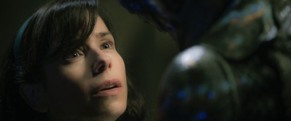"This image released by Fox Searchlight Pictures shows Sally Hawkins, left, and Doug Jones in a scene from the film ""The Shape of Water."""