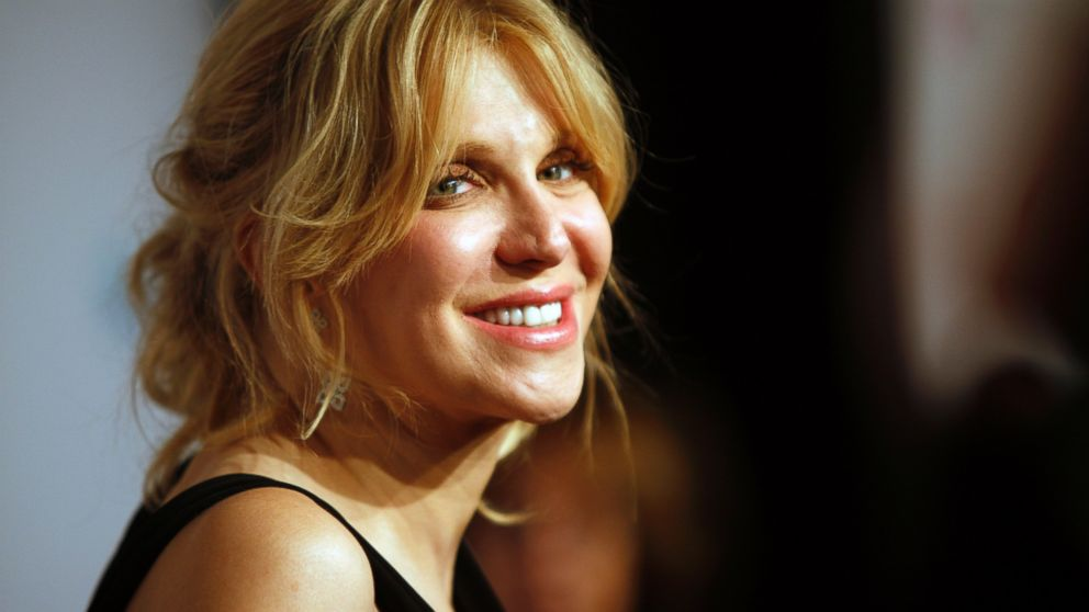 "PHOTO: In this Oct. 15, 2013 file photo, Courtney Love arrives at the Elton John AIDS Foundations 12th Annual ""An Enduring Vision"" benefit gala at Cipriani Wall Street, in New York."