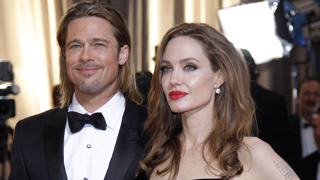 PHOTO: In this Feb. 26, 2012 file photo, Brad Pitt, left, and Angelina Jolie arrive before the 84th Academy Awards, in the Hollywood section of Los Angeles.