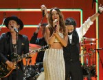 PHOTO: Recording artists Bruno Mars, left, and Rihanna perform a tribute to Bob Marley at the 55th annual Grammy Awards on Sunday, Feb. 10, 2013, in Los Angeles.