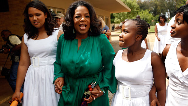 PHOTO: Oprah Beams, Cries at Schools First Class Graduation