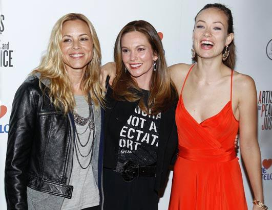 Celebs Rally for Haiti Maria Bell Diane Lane Olivia Wilde
