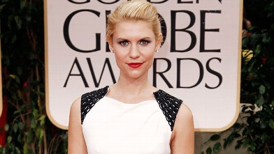 PHOTO: Claire Danes arrives at the 69th Annual Golden Globe Awards, Sunday, Jan. 15, 2012, Los Angeles, Calif.