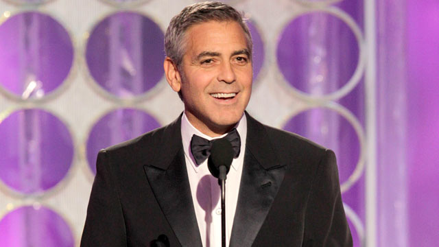 PHOTO: Presenter George Clooney appears during the 69th Annual Golden Globe Awards, Jan. 15, 2012, Los Angeles, Calif.