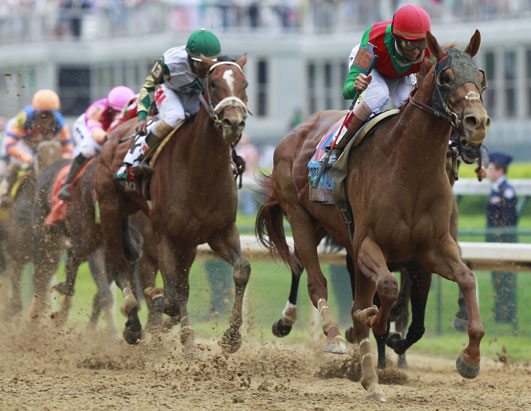 PHOTO John Velazquez rides Animal Kingdom to victory during the 137th Kentucky Derby horse race at Churchill Downs Saturday, May 7, 2011, in Louisville, Ky.