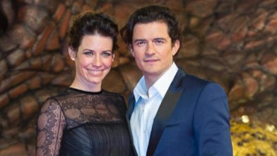 Orlando Bloom Hits the Red Carpet with Evangeline Lilly