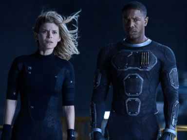 PHOTO: Kate Mara, left, as Sue Storm, and Michael B. Jordan as Johnny Storm, in a scene from the film, Fantastic Four, released in U.S. theaters on Aug. 7, 2015.