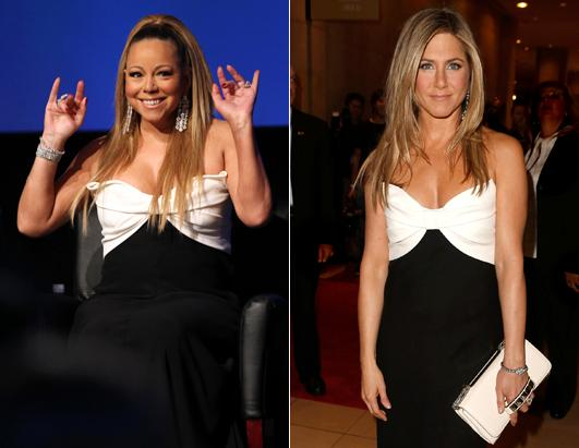 Fashion Faceoff: Mariah Carey vs. Jennifer Aniston