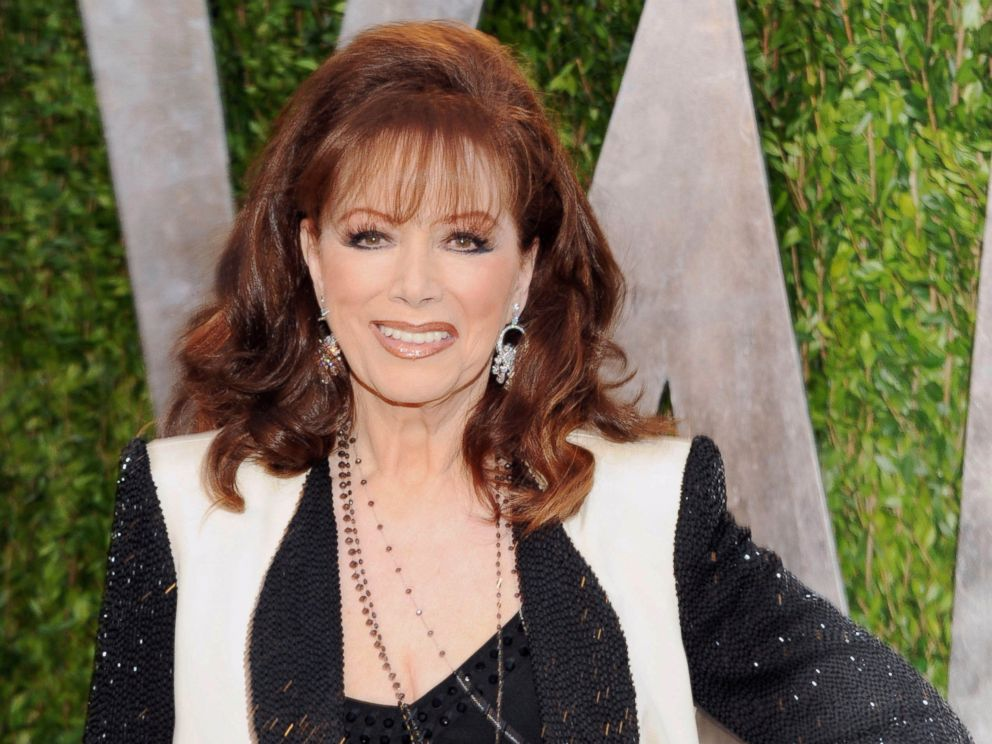 PHOTO: In this Feb. 24, 2013 file photo, author Jackie Collins arrives at the 2013 Vanity Fair Oscars Viewing and After Party in West Hollywood, Calif.