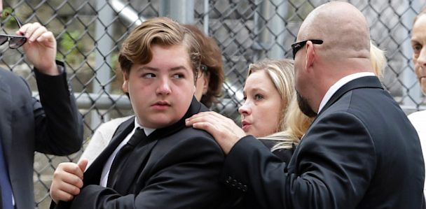 ap james gandolfini funeral son ll 130627 33x16 608 James Gandolfini Funeral: Family, Co Stars Pay Last Respects