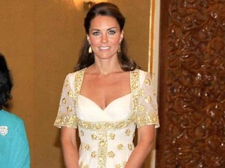 Photos: Kate Middleton Sparkles in Gold
