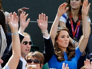 Photos: Kate Middleton Does the Wave