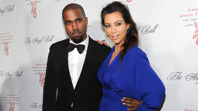 PHOTO: Singer Kanye West and girlfriend Kim Kardashian attend Gabriell