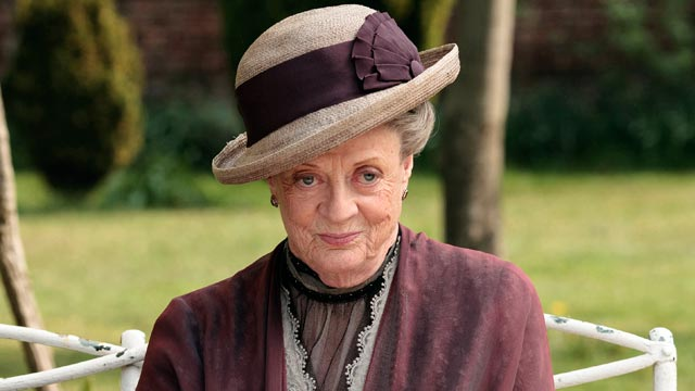 "PHOTO: Maggie Smith, as the Dowager Countess Grantham, is shown in a scene from the second season on ""Downton Abbey."""
