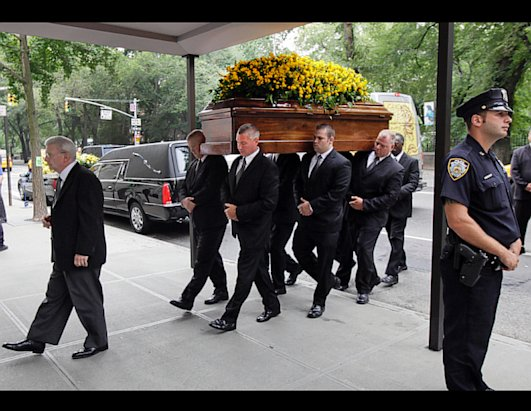 Stars at Funeral Service for Composer Marvin Hamlisch