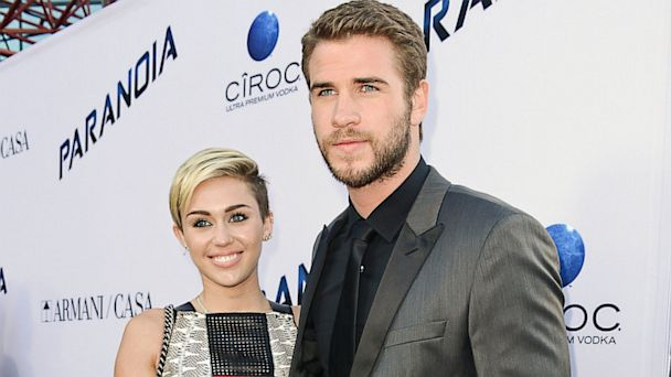 ap miley cyrus liam hemsworth ll 130809 16x9 608 Liam Hemsworth and Miley Cyrus Hit First Red Carpet Together Since 2012