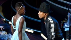 Pharrell Dances with Lupita