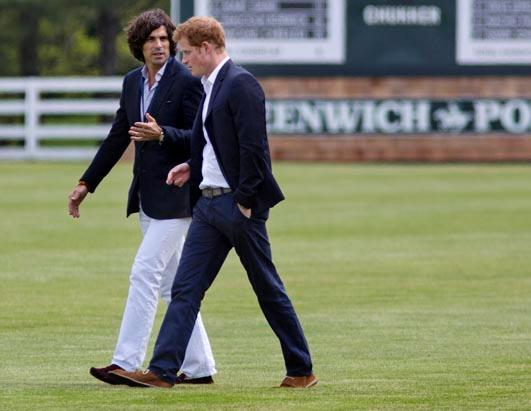 Harry Attends Charity Polo Match