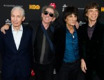 "PHOTO: Rolling Stones band members, from left, Charlie Watts, Keith Richards, Ronnie Wood and Mick Jagger, attend ""The Rolling Stones Crossfire Hurricane"" premiere on Tuesday, Nov. 13, 2012 in New York."