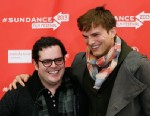 "PHOTO: Actors Ashton Kutcher, right, who portrays Steve Jobs, and Josh Gad, who portrays Steve Wozniak, pose together at the premiere of ""jOBS"" during the 2013 Sundance Film Festival on Friday, Jan. 25, 2013 in Park City, Utah."
