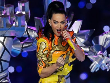 PHOTO: Singer Katy Perry performs during halftime of NFL Super Bowl XLIX football game between the Seattle Seahawks and the New England Patriots on Feb. 1, 2015, in Glendale, Ariz.