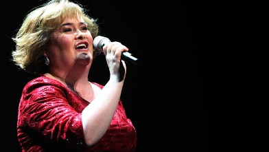 PHOTO: Susan Boyle performs during her musical 'I Dreamed A Dream' at the Theatre Royal in Newcastle, England, March 27, 2012.