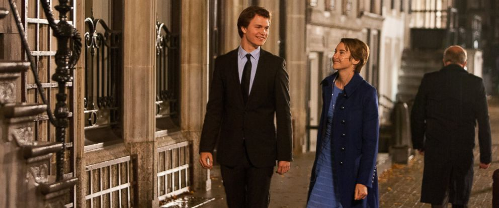 "PHOTO: This image released by 20th Century Fox shows Ansel Elgort, left, and Shailene Woodley appear in a scene from ""The Fault In Our Stars."""