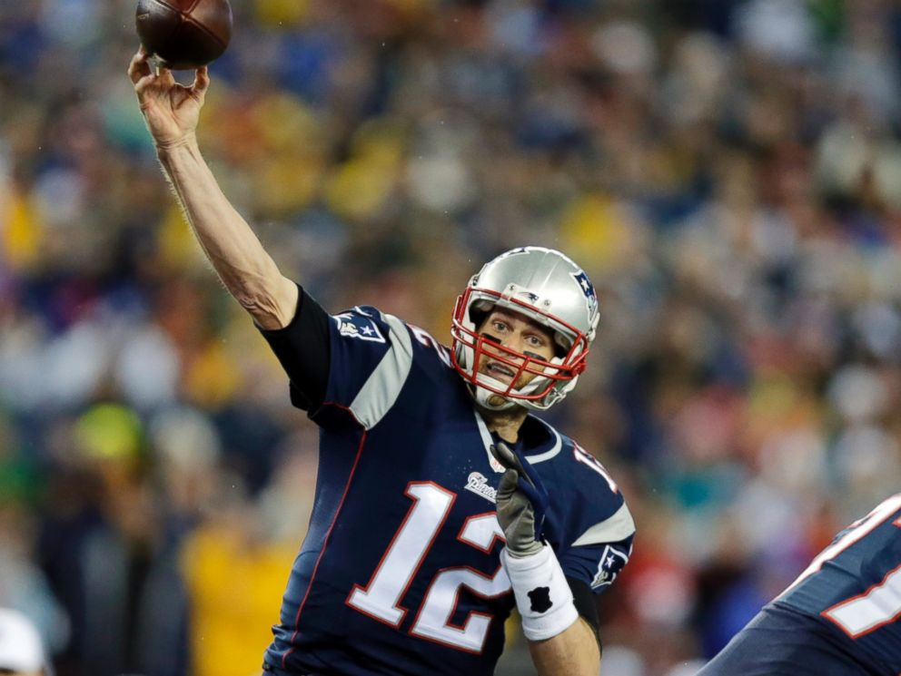 PHOTO: New England Patriots quarterback Tom Brady throws a pass during the first half of the AFC championship NFL football game against the Indianapolis Colts in Foxborough, Mass, on Jan. 18, 2015.