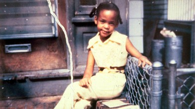 Whitney Houston pictured here when she was a little girl, circa 1968.