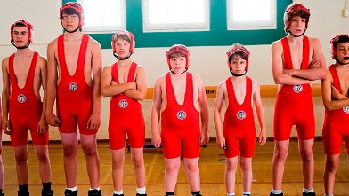 PHOTO: Zachary Gordon, third from right, is shown in a scene from &quot;Diary of a Wimpy Kid.&quot;