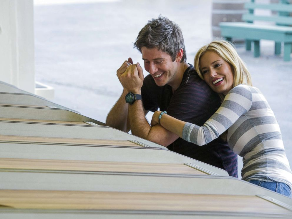 PHOTO: Emily Maynard and Arie Luyendyk Jr. in a scene from the Bachelorette in 2012.