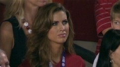 VIDEO: Alabama quarterback's girlfriend sees online popularity grow after being mentioned during BCS game.