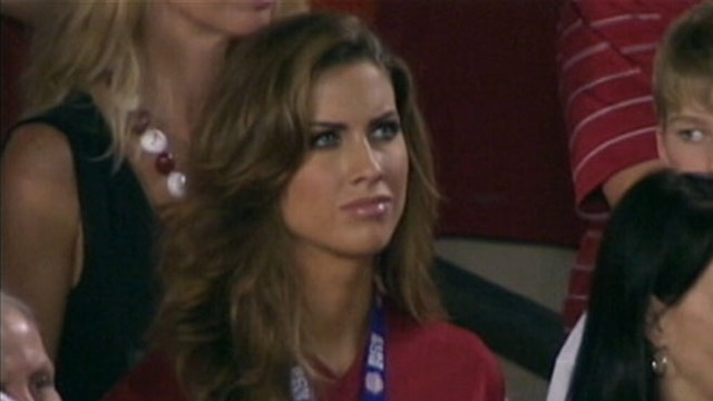 VIDEO: Alabama quarterbacks girlfriend sees online popularity grow after being mentioned during BCS game.