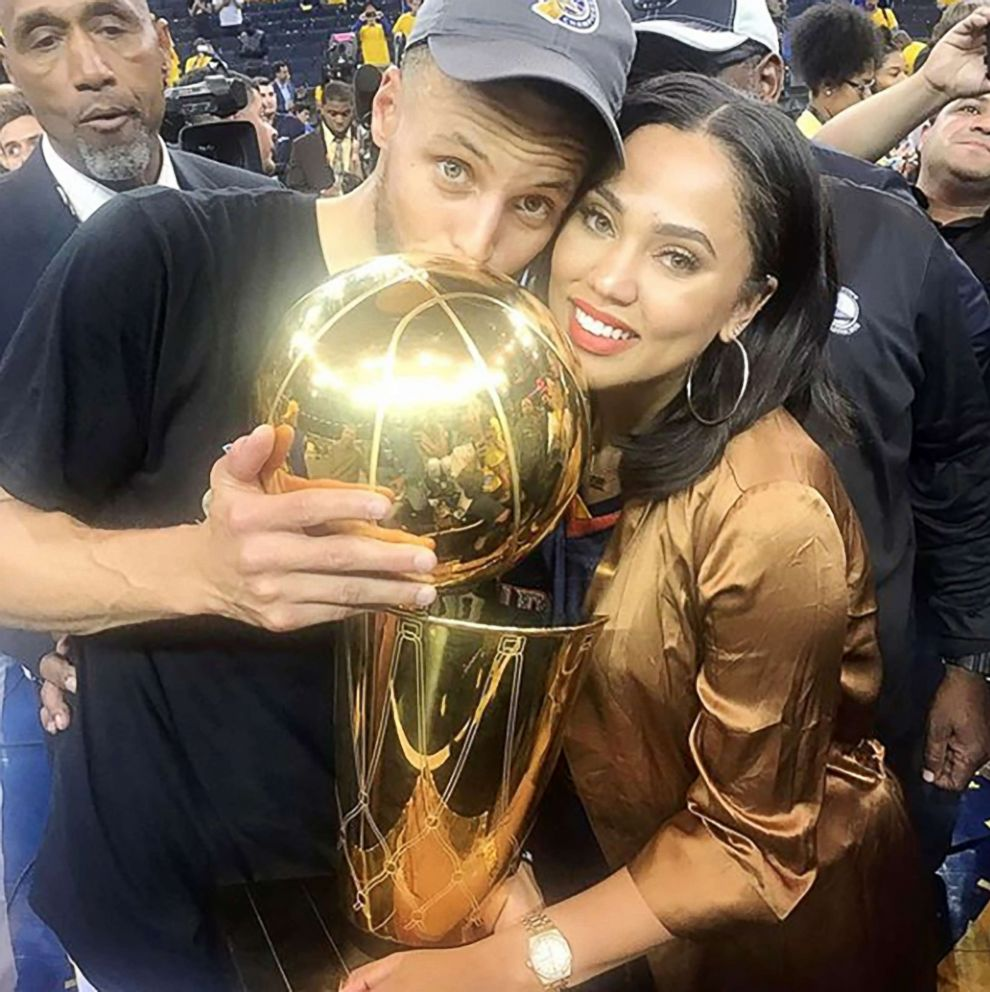 PHOTO: Ayesha Curry celebrates her husband Steph Currys NBA championship win.