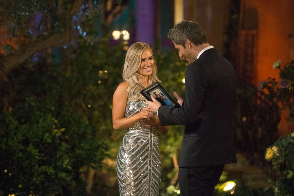 PHOTO: Arie Luyendyk Jr. with Lauren B. during the season premier of The Bachelor that aired Jan. 1, 2018.