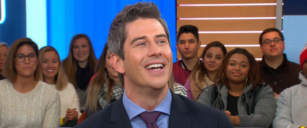"""PHOTO: Bachelor Arie Luyendyk Jr. discusses the season premiere of """"The Bachelor"""" live on """"Good Morning America."""""""