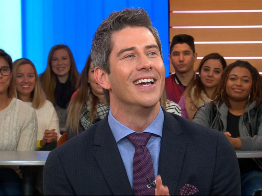 PHOTO: Bachelor Arie Luyendyk Jr. discusses the season premiere of The Bachelor live on Good Morning America.