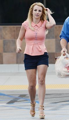 Britney Shops in Tiny Shorts
