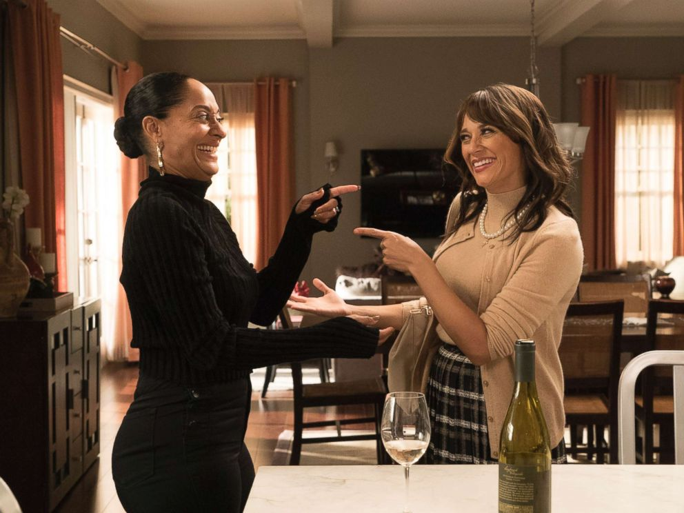 PHOTO: Tracee Ellis Ross and Rashida Jones in an episode on black-ish, Jan. 9, 2018, on The ABC Television Network.
