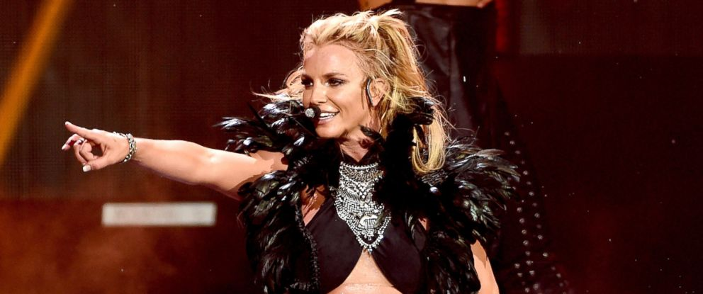 PHOTO: Britney Spears performs onstage at the iHeartRadio Music Festival at T-Mobile Arena, Sept. 24, 2016, in Las Vegas.