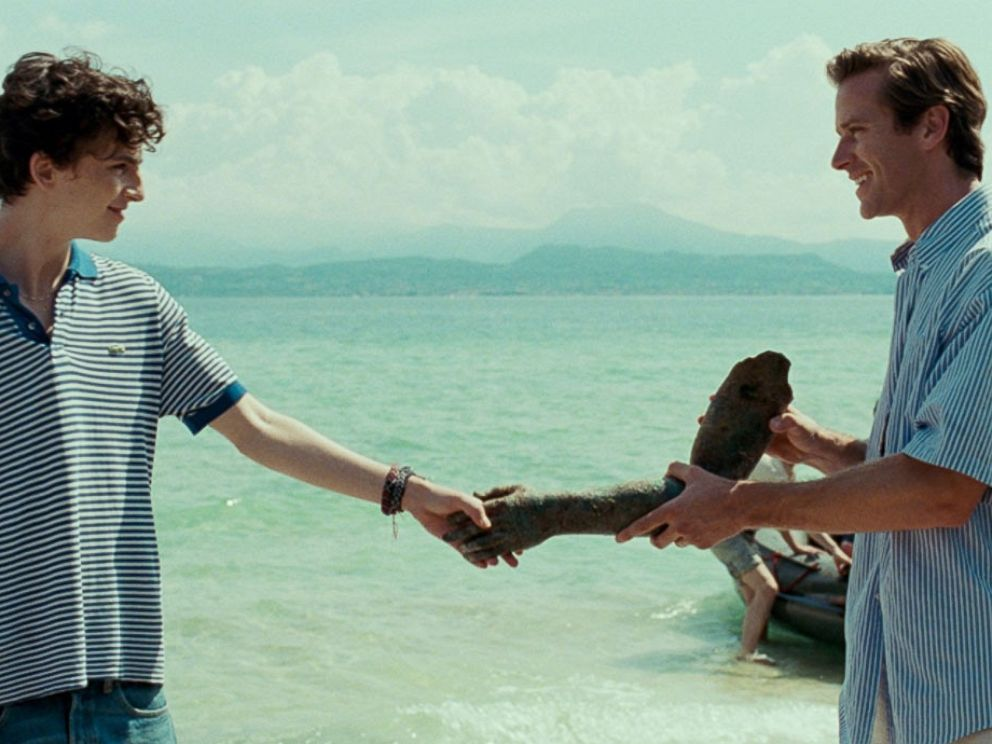 PHOTO: Timothee Chalamet and Armie Hammer in the movie,Call Me by Your Name.
