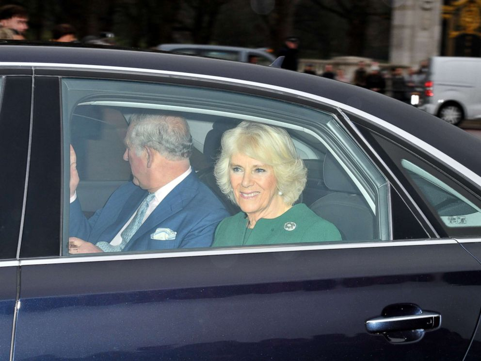 'PHOTO: Prince Charles and Camilla Duchess of Cornwall arrive1_b@b_1the Royal Christmas lunch1_b@b_1Buckingham Palace in London, Dec. 20, 2017.' from the web at 'http://a.abcnews.com/images/Entertainment/charles-camilla-rex-ml-171220_4x3_992.jpg'