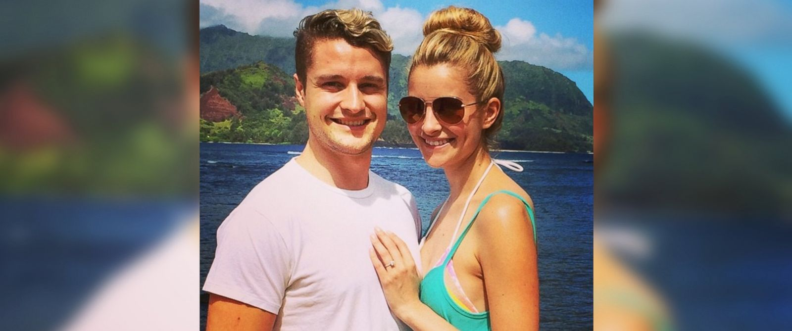 "PHOTO: World champion ice dancer and ""Dancing with the Stars"" competitor, Charlie White, posted this image of himself with girlfriend Tanith Belbin to Instagram on June 10, 2014."