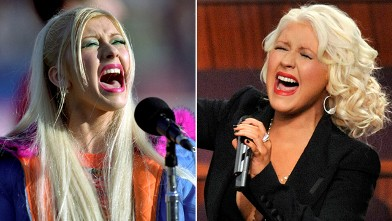 PHOTO: Christina Aguilera in 2012, right, and 1999.