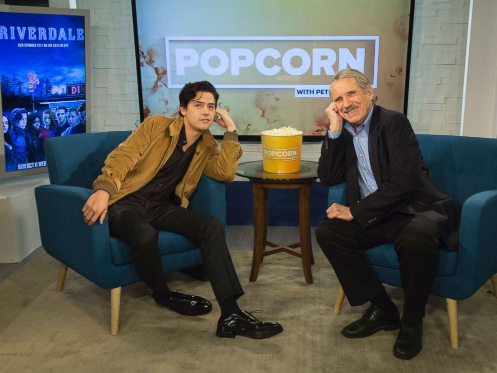 PHOTO: Cole Sprouse appears on Popcorn with Peter Travers at ABC News studios, Oct. 25, 2017, in New York City.
