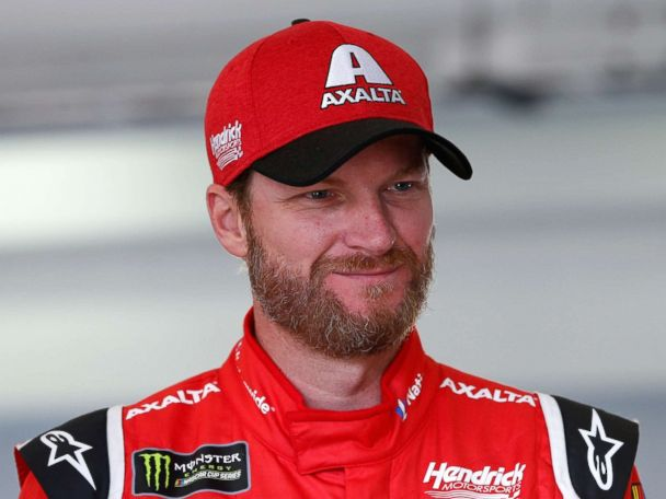 'PHOTO: Dale Earnhardt Jr., driver of the #88 AXALTA Chevrolet, stands in the garage area during practice for the Monster Energy NASCAR Cup Series Championship Ford EcoBoost 4001_b@b_1Homestead-Miami Speedway, Nov. 18, 2017 in Homestead, Fla.' from the web at 'http://a.abcnews.com/images/Entertainment/dale-earnhardt-jr-1-gty-jt-171119_4x3_608.jpg'